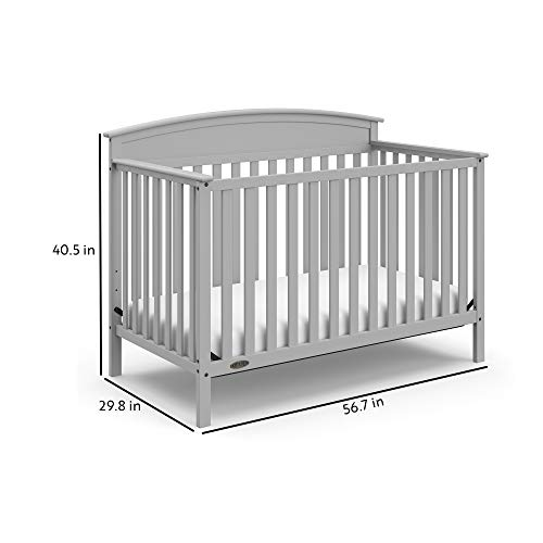 410%2BgRNy6QL - Graco Benton 4-in-1 Convertible Crib, Pebble Gray, Solid Pine And Wood Product Construction, Converts To Toddler Bed Or Day Bed (Mattress Not Included)