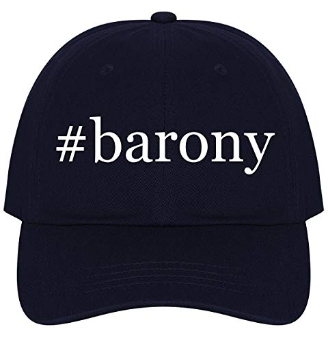 - The Town Butler #Barony - A Nice Comfortable Adjustable Hashtag Dad Hat Cap, Navy, One Size