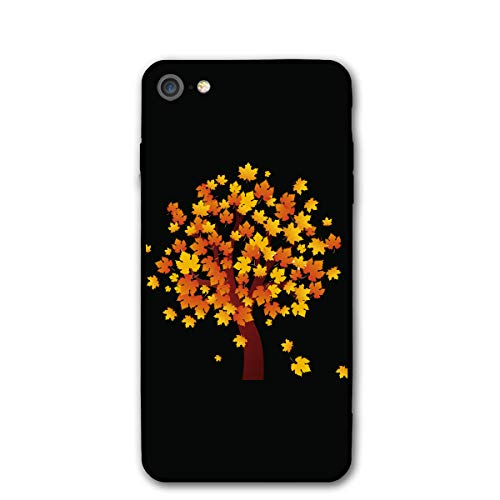 Tree Clipart - Basic Cases Protective Anti-Scratch Resistant Cover for iPhone 7/8 4.7-Inch Printed with Autumn Clipart Autumn Maple Tree - Fall Tree Clip Art