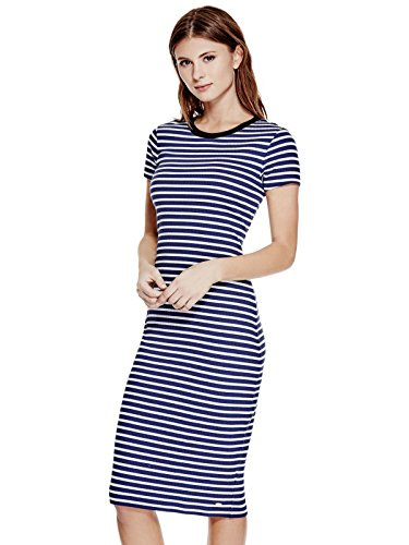 GUESS-Womens-Ireland-Striped-Midi-Dress