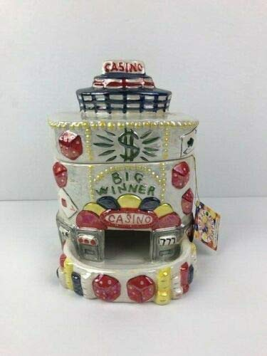 Lefton Vintage 2004 People Treaters Casino Jar Canister Candy Dish Dispenser in ()