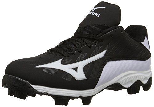 e946c8ac3 Mizuno 9 Spike ADV YTH FRHSE 8 BK-WH Youth Molded Cleat (Little Kid