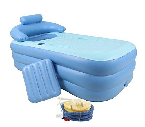 Bañera hinchable plegable portátil (PVC, hogar baño barril ...