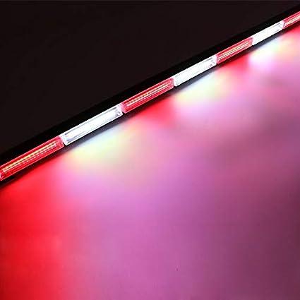 HEHEMM 216W Double Side Car 72 LED Beacon Strobe Flashing Emergency Work Light Bar Warning Lights Lamp Amber