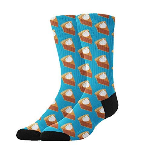 AllDECOR High Ankle Cotton Crew Socks Women Men Pumpkin Pie (Pumpkin Socks)