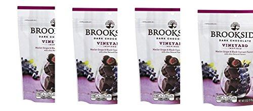 Brookside Dark Chocolate Vineyard Inspired flavors Merlot Grape and Black Currant(pack of ()