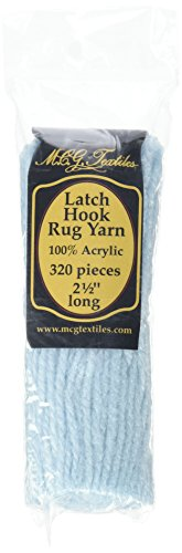Latch Hook Rug Yarn  -Very Light Blue