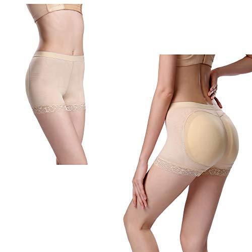 MZX Womens Hip Enhancer Shapewear Socket Type Silicone Pad Silicone Fake Padded Panties Body Shaper Hip Enhancer Panties,SkinColor-XXL