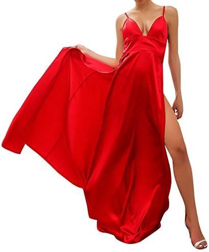 ロングドレス Foreted ブラックドレス 白 フォーマル vネック 無地 タイト ハイウエスト キャミ 美しいライン ロング丈 ファッション ウェディングドレス セクシー パーティー 花嫁 イブニングドレス 結婚式 おしゃれ