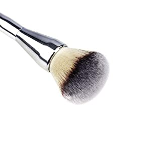 Brain Freezer Professional Cosmetic Foundation Face Blush Powder Makeup Brush Tool Silver Black