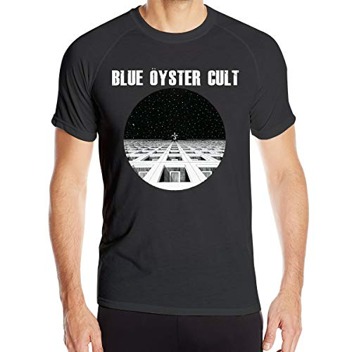 Blue Oyster Men Sports Funny Quick Drying T Shirt Black XL (Oyster Mop)