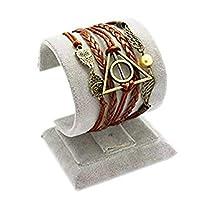Romote Reliques de la Mort Logo-Snitch Ailes-Hedwig Pendentif 3 en 1 Bracelet fait main