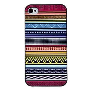 HP- Dibujo Multicolor Patrón Negro Caso duro Triángulo color Frame PC para el iPhone 4/4S