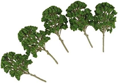 F Fityle 5個 樹木 モデルツリー 1/50-1/75 鉄道模型 ジオラマ 箱庭 DIY 装飾