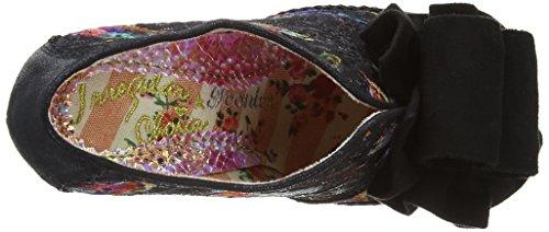 Irregular Choice Hook, Line and Sinker - Zapatos de vestir de satén para mujer negro - negro