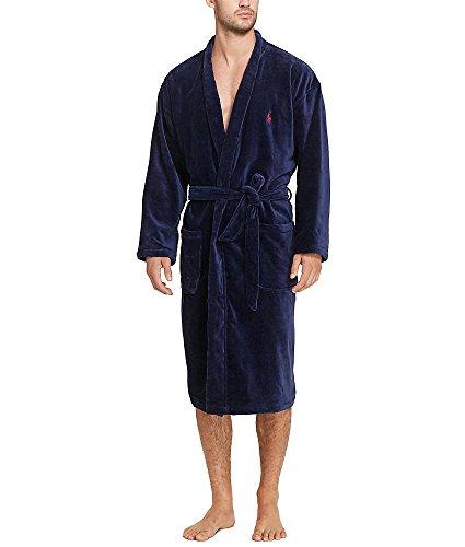 Polo Ralph Lauren Men's Terry Shawl Robe Navy Medium (Ralph Lauren Pima Cotton Polo Long Sleeve)