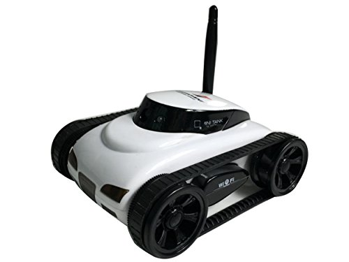 A-Parts New Mini RC I - Spy Tank Car Video Camera 777-270 WiFi Remote Control By Iphone Android White 0.3MP Photo RC Car White (Iphone Controlled Car With Camera compare prices)
