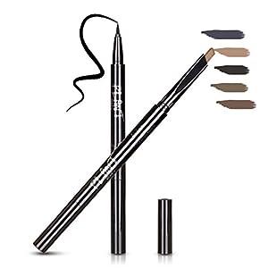 Eyeliner & Eyebrow Pencil, Dual-End Waterproof Makeups, Eye Cosmetic Tools, Light Brown-2# by HeyBeauty