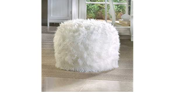 Amazing Amazon Com White Round Ottoman Pouf For Living Rooms Foot Pdpeps Interior Chair Design Pdpepsorg