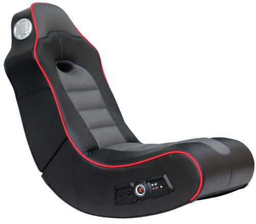 X Rocker 5172601 Surge Bluetooth 2.1 Sound Gaming Chair, Black with Red Piping ()