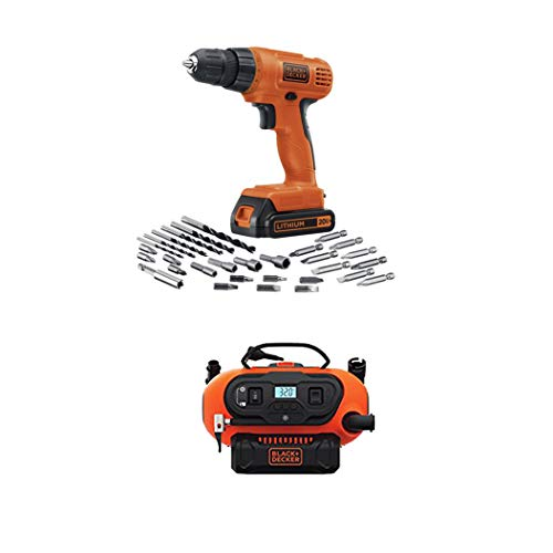 BLACK+DECKER 20-Volt Max Lithium Drill/Driver Kit + 20V Lithium Cordless Multi-Purpose Inflator $84 **Today Only**