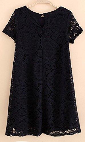 CANDAY Women's Short Sleeve Lace Floral A Line Plus Size Dress