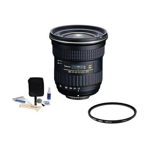 Tokina 17-35mm F/4 AT-X Pro FX Lens for Canon EOS DSLR Cameras, BUNDLE