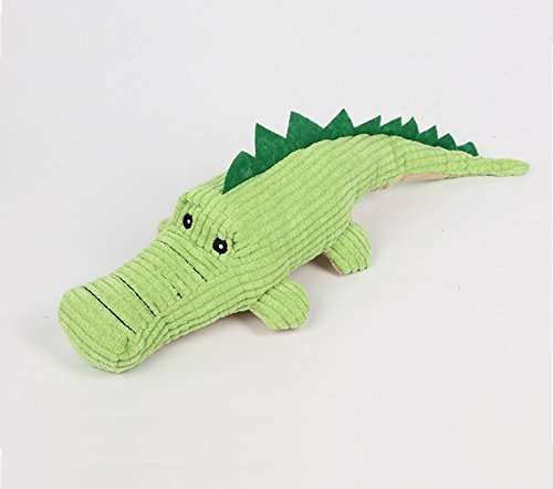 Stock Show 1Pc Pet Squeak Toy, Plush Green Crocodile Shape T