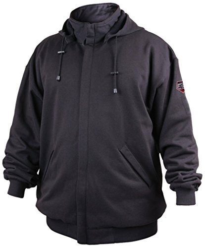 REVCO/BLACK STALLION JF1331 - Large Truguard Cotton Hooded Sweatshirt, Black