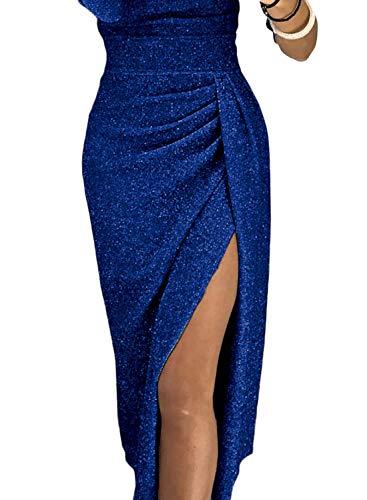 Vestito Sexy Taglia S Senza Spalline Abito Blu xl Aleumdr Donna dWwnxOdP