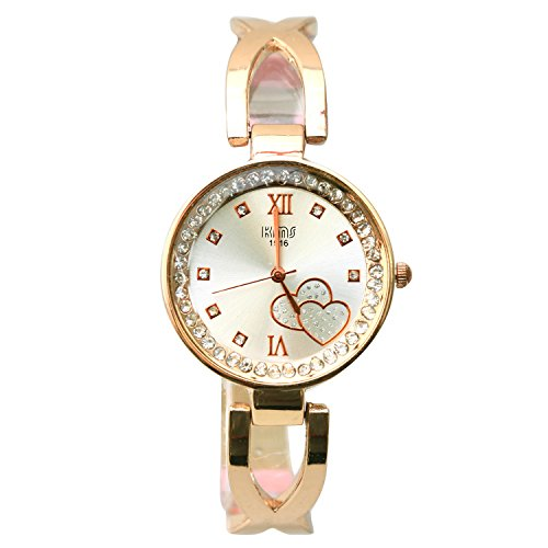 Black Stainless Steel Crystal-accented Bracelet Watches Women's Elegant Hasp Bangle Watch