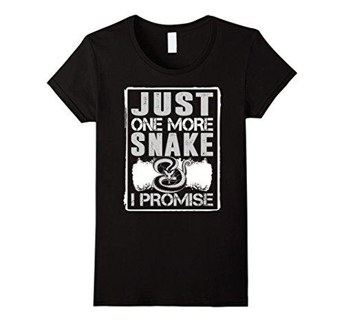 Womens Just One More Snake I Promise Animal Love Tshirt Medium ()