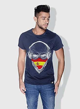 Creo Spain Skull T-Shirts For Men - Xl, Blue