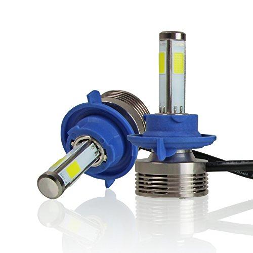 360 Four Diamond - Optix H13 (9008) Dual Hi/Lo Beam Bulbs - 120W 12000LM LED Headlight Conversion Kit - 6000K 6K Diamond White - 4-Sided Epistar COB Chip - 360 Light Plug and Play Design - 1 Pair
