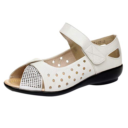 Tantisy ♣↭♣ Womens Wedge Sandals Velcro Shoes/Comfort Platform Fish Mouth Summer Flats Mom Slip On ()