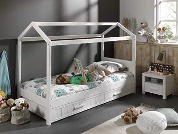 Haus Bett Etagenbett : Flexa classic haus aufsatz weiß für einzelbett und