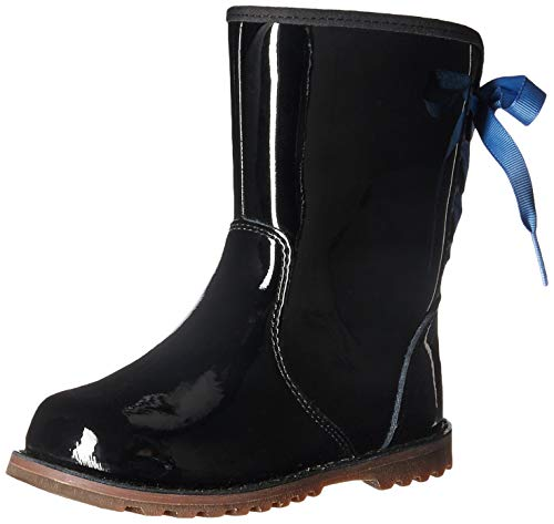 Black Patent Boots For Girls (UGG Girls' T Corene Patent Boot, Black, 8 M US)