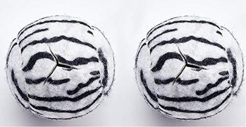 Star Top Deluxe Pre Cut Walker Tennis Ball Glides - Walkers Legs Universal Precut Glide Balls, Accessories Gifts for Elderly Seniors or Medical Rehab (Zebra)