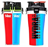 Hydra Cup - Dual Threat Shaker Bottle, 28oz Shaker Cup, Made in USA