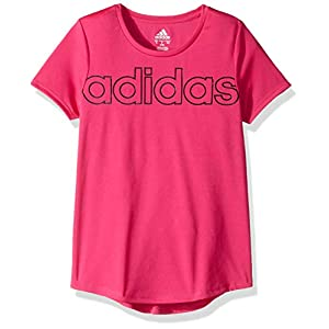 adidas Girls' Short Sleeve Scoop Neck Tee T-Shirt