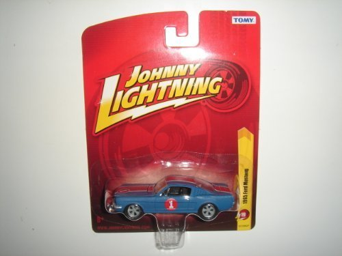 Johnny Lightning Tomy 1965 Ford Mustang Fastback Matte Blue - Tomy Ford