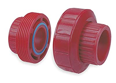 Chemtrol Union, 3/4 In, S x S, 1360 PSI Red 6533 3/4-1 Each