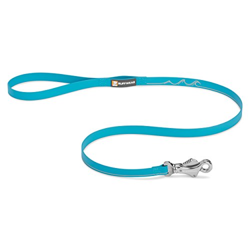 Ruffwear   Headwater Waterproof  Stink Proof  Reflective Dog Leash  Blue Spring
