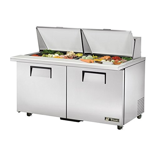 True TSSU-60-24M-B-ST-ADA True TSSU-60-24M-B-ST-ADA Mega-Top Sandwich Prep Table - 24 Sixth-Size Pans, 2 Doors, 4 Shelves, 15.5 Cu. Ft., ADA Compliant Ada Compliant Sandwich