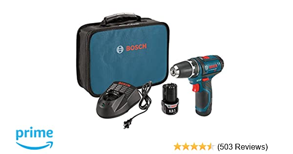 Bosch 12-Volt Max 3/8-Inch 2-Speed Drill/Driver Kit PS31-2A with 2 Lithium-Ion Batteries, 12V Charger and Carrying Case