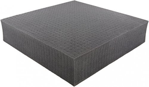 Pick and Pluck - Pre-Cubed foam tray 300 mm x 300 mm x 70 mm (11.8 inch x 11.8 inch x 2.75 inch) plus FREE bottom
