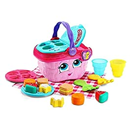 LeapFrog 603603 Shapes & Sharing Picnic Basket Baby Toy Educational and Interactive 16 Pieces for Creative and Learning…