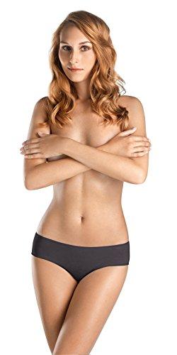 HANRO Women's Ultralight Hi Cut Brief, Black Bean, Medium