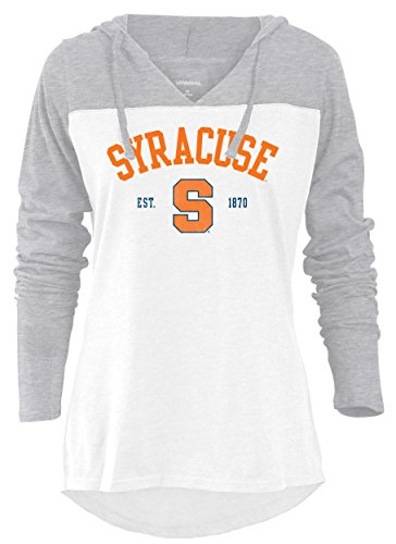 NCAA Syracuse Orange Women's Color Block Long Sleeve Hoodie, X-Large, Athletic Heather (Blocks Syracuse)