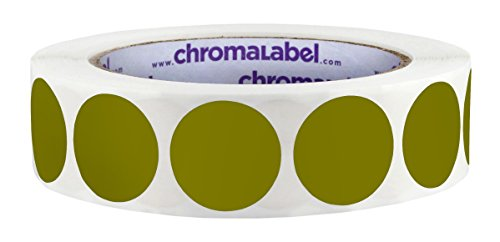 ChromaLabel 1 inch Color-Code Dot Labels | 1,000/Roll (Olive)